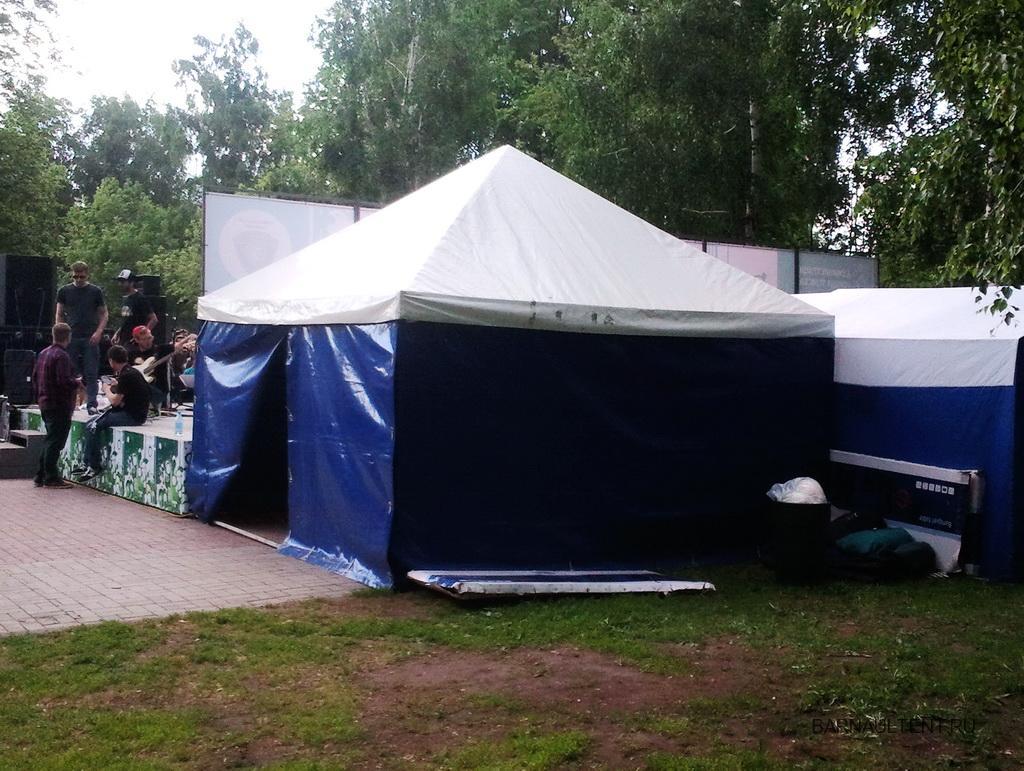 Хозяйственный шатер для звукового и музыкального оборудования, 5х5 метров