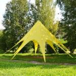 Тент-звезда желтый