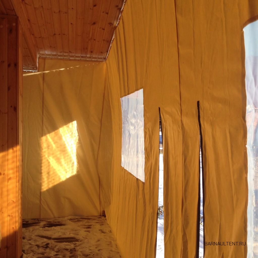 Защитные ПВХ-шторы на веранду